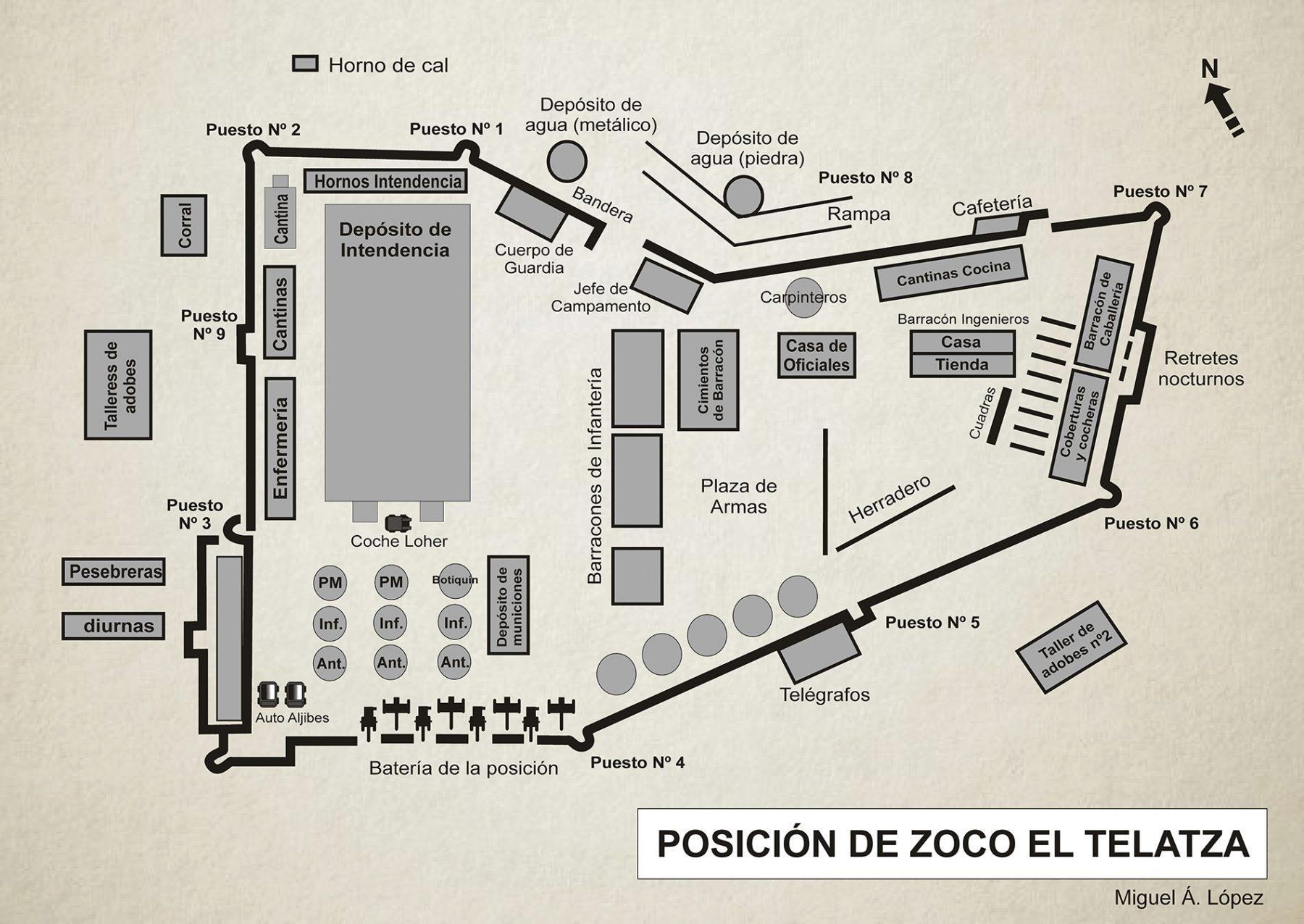 Mapa que muestra la posición del zoco El Telatza