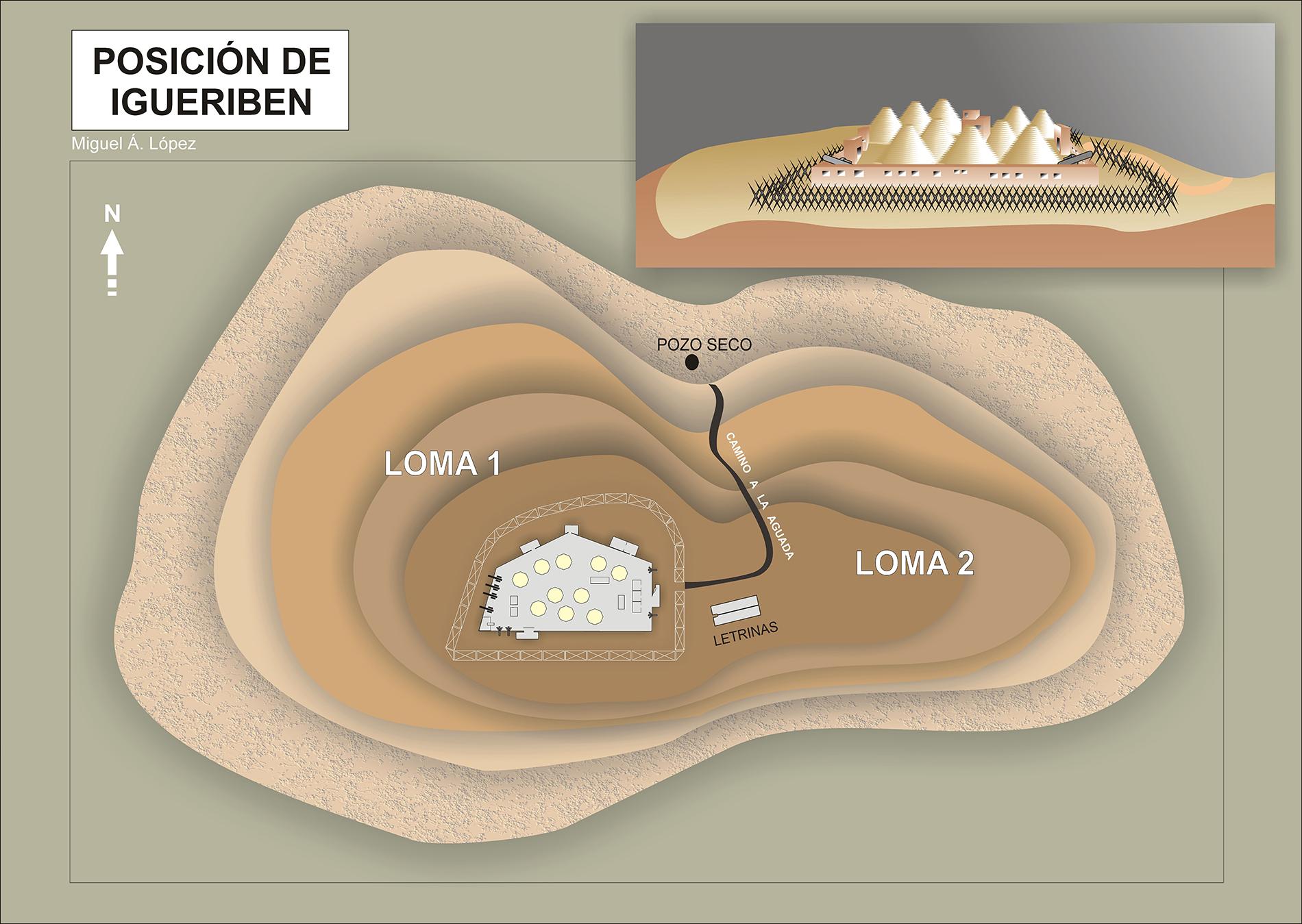Mapa que muestra la Posición de Igueriben