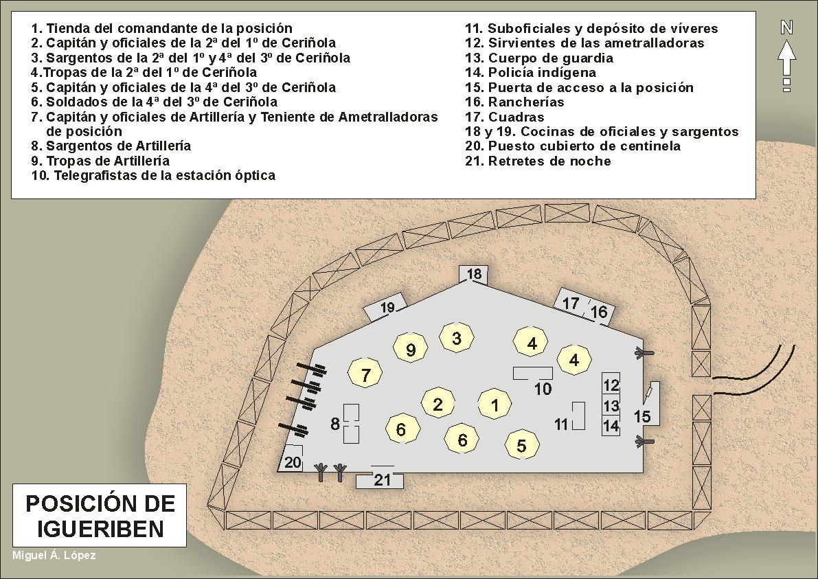 Mapa que muestra con más detalle la posición de Igueriben