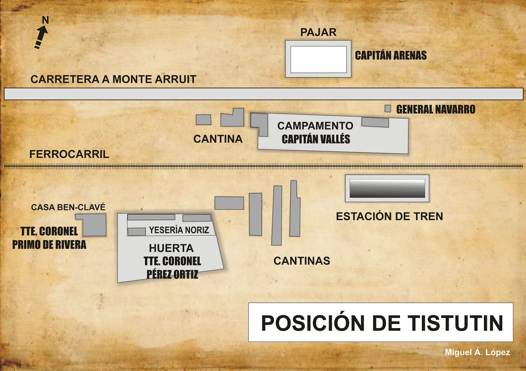 Mapa que muestra la posición de Tistutin